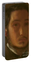 Self-portrait With White Collar Portable Battery Charger