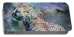 Portable Battery Charger featuring the painting Seven Year Itch by Judy Kay
