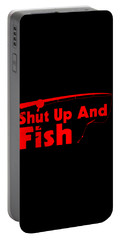 Shut Up And Fish Red Portable Battery Charger