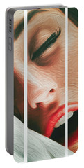 Portable Battery Charger featuring the photograph Side Kiss- by JD Mims