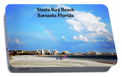 Portable Battery Charger featuring the photograph Siesta Beach by Gary Wonning