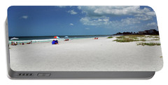 Portable Battery Charger featuring the photograph Siesta Key Beach by Gary Wonning