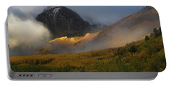Portable Battery Charger featuring the photograph Siever's Mountain by Steve Stuller