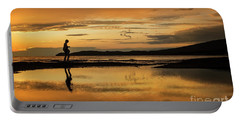 Silhouette In Sunset Portable Battery Charger