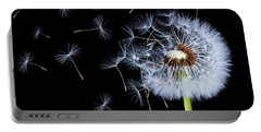 Silhouettes Of Dandelions Portable Battery Charger
