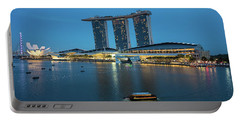 Singapore Harbour Portable Battery Charger by Jocelyn Kahawai
