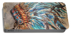 Sky Feather Portable Battery Charger by Heather Roddy