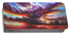 Portable Battery Charger featuring the painting Skyburst by James Christopher Hill