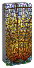 Skylight In Palace Of Catalan Music  Portable Battery Charger