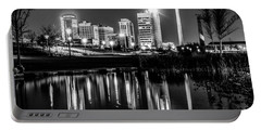 Skyline Of Birmingham Alabama From Railroad Park Portable Battery Charger