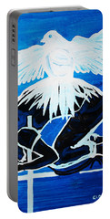 Slain In The Holy Spirit Portable Battery Charger by Gloria Ssali