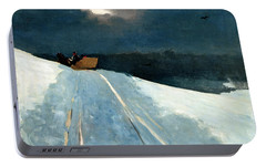Portable Battery Charger featuring the painting Sleigh Ride by Winslow Homer