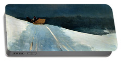 Sleigh Ride Portable Battery Charger by Winslow Homer