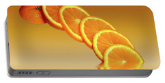 Slices Orange Citrus Fruit Portable Battery Charger