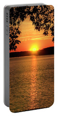 Smith Mountain Lake Silhouette Sunset Portable Battery Charger