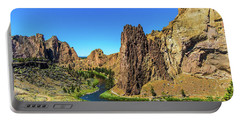 Portable Battery Charger featuring the photograph Smith Rock by Jonny D