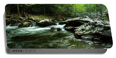 Portable Battery Charger featuring the photograph Smoky Mountain River by Jay Stockhaus