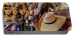 Portable Battery Charger featuring the photograph Snail Creek Hat Company by Tim Stanley