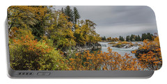 Snake River Greenbelt Walk In Autumn Portable Battery Charger