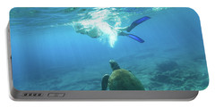 Snorkeler Female Sea Turtle Portable Battery Charger
