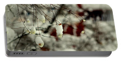 Snow Berries Portable Battery Charger by Leone Lund