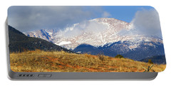 Snow Capped Pikes Peak Colorado Portable Battery Charger