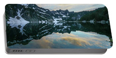 Snow Lake Chair Peak Dusk Reflection Portable Battery Charger by Mike Reid
