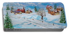 Winter Hamlet Portable Battery Charger by Mike Caitham