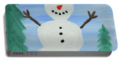 Snowman Portable Battery Charger by Anthony LaRocca