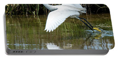 Snowy Egret Takeoff Portable Battery Charger