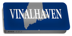 Portable Battery Charger featuring the photograph Southwest Harbor Maine State City And Town Pride  by Keith Webber Jr