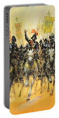 Spanish Conquistadors Portable Battery Charger by Graham Coton
