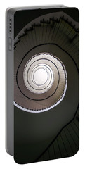 Portable Battery Charger featuring the photograph Spiral Staircase In Brown Tones by Jaroslaw Blaminsky