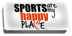 Sports Are My Happy Place Portable Battery Charger by Shelley Overton