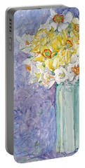 Spring Blossoms Portable Battery Charger by Jan Bennicoff