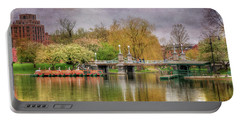 Portable Battery Charger featuring the photograph Spring In The Boston Public Garden by Joann Vitali
