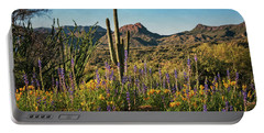 Portable Battery Charger featuring the photograph Spring In The Sonoran  by Saija Lehtonen