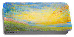 Portable Battery Charger featuring the painting Spring by Teresa Wegrzyn