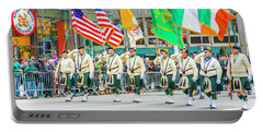 St. Patrick Day Parade In New York Portable Battery Charger