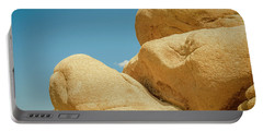 Stacked Boulders Joshua Tree Portable Battery Charger by Amyn Nasser