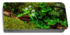 Star Chickweed Mossy Rock Portable Battery Charger