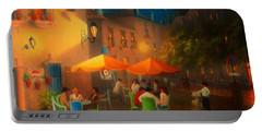 Starry Night Cafe Society Portable Battery Charger by Joe Gilronan
