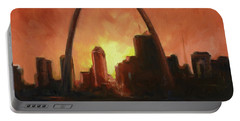 St.louis Downtown - Sunset Portable Battery Charger