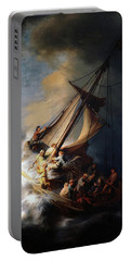 Storm On The Sea Of Galilee Portable Battery Charger
