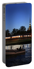 St.petersburg At Night Portable Battery Charger