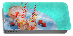 Portable Battery Charger featuring the photograph Strawberry Lemonade At Pool Side by Elena Elisseeva