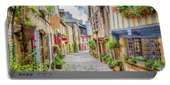 Streets Of Dinan Portable Battery Charger by JR Photography