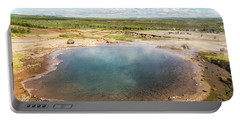 Strokkur Geyser In Iceland Portable Battery Charger