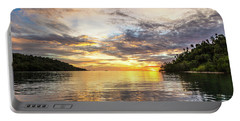 Stunning Sunset In The Togian Islands In Sulawesi Portable Battery Charger