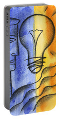 Portable Battery Charger featuring the painting Success by Leon Zernitsky